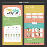 Childlike one page website template design Royalty Free Stock Images