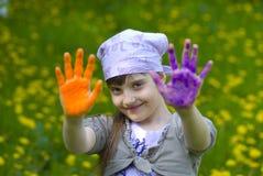 Childlike painting Stock Image