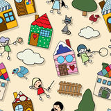 Childlike seamless pattern Stock Photography