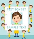 Childminder men_text box. Set of various poses of Childminder men_text box Royalty Free Stock Photo