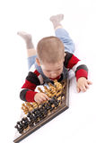 Childre playing chess Stock Photo