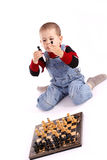 Childre playing chess Royalty Free Stock Photography