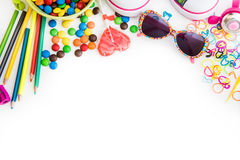 Childre's sweets and stuff Royalty Free Stock Photos