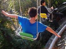 Childreen auf chilenischem thematischem Park Stockfotografie
