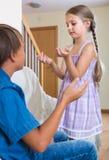 Children's quarrel indoor Stock Photography