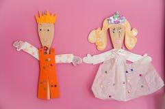 Children's rękodzieła lale Obraz Royalty Free