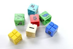 Children's toy colorful cube Stock Images
