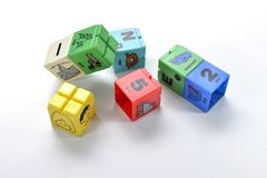 Children's toy colorful cube Royalty Free Stock Photography