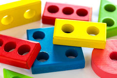 Children's toys. Children's toys for learning skill Royalty Free Stock Photos