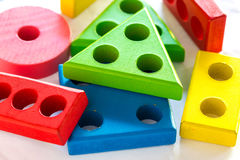 Children's toys. Children's toys for learning skill Stock Photo