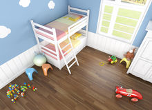 Children´s bedroom seen from above Royalty Free Stock Photo