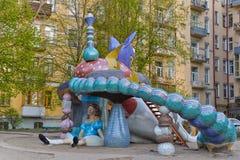 Childrenâs Spielplatz Kyiv, Ukraine Stockfotos