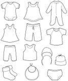 Childrenâs y ropa de los bebés Foto de archivo libre de regalías