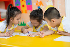 Children�s drawing stock photos