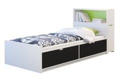 Children& x27 κρεβάτι του s με headboard τρισδιάστατος δώστε διανυσματική απεικόνιση