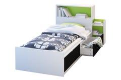 Children& x27 κρεβάτι του s με headboard τρισδιάστατος δώστε ελεύθερη απεικόνιση δικαιώματος
