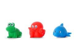 Children' игрушки ванны s резиновые Стоковые Фотографии RF