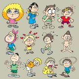 Children 1. Variety of characters about children and children diseases Royalty Free Stock Photography