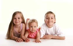Children. On a white background Royalty Free Stock Images