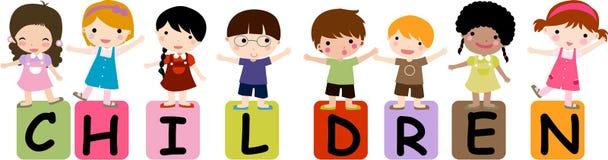 Children. Illustration of group of children Stock Images