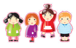 Children. 4 cute children vector illustration stock illustration
