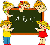 Children. Boys and girls in school Royalty Free Stock Images