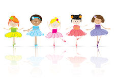 Children. Dance, ballerina, happy illustration stock illustration