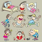 Children 2. Variety of characters about children and children diseases Royalty Free Stock Photo