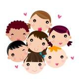 Children. Group of children ,Illustration art Stock Image