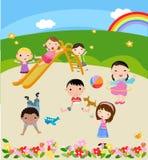 Children. Group of children ,Illustration art Royalty Free Stock Images