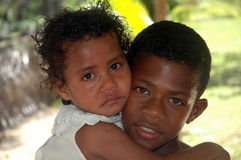 Children. Most of the Children of the South Pacific Islands love to have their photos taken. It was market Day on Mystery Island when our Cruise Ship visited Stock Images