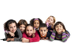 Children. Group of children posing isolated in white Stock Photos