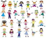 Children. Illustration of diverstity funny children royalty free illustration