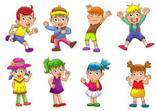Children. EPS8 File - simple Gradients, no Effects, no mesh, no Transparencies Royalty Free Stock Images