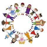Children. Illustration of children of different nationaliy Stock Image