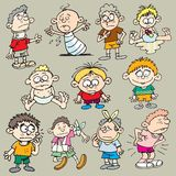 Children 3. Variety of characters about children and children diseases Stock Images