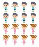 Children. In different expressions Stock Image