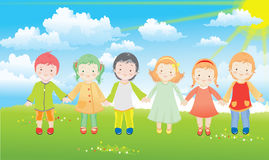 Children vector illustration