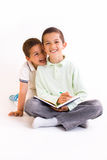 Children. Two boys on the white background Royalty Free Stock Photos
