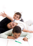 Children. In play and book Stock Images
