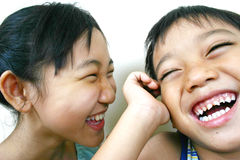 Children. Close-up two asian kids Stock Images