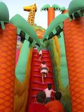 Children  on a playgroud Stock Photo