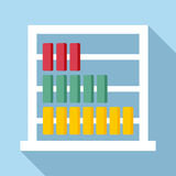 Children abacus icon, flat style. Children abacus icon. Flat illustration of children abacus vector icon for web Stock Images