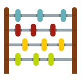 Children abacus icon isolated. Children abacus icon flat isolated on white background vector illustration stock illustration