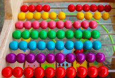 Abacus with pearls stock photo
