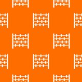 Children abacus pattern seamless. Children abacus pattern repeat seamless in orange color for any design. Vector geometric illustration royalty free illustration