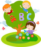 Children and ABC. Illustration of children and ABC royalty free illustration