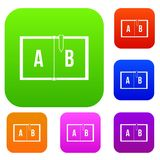 Children abc set color collection Royalty Free Stock Images