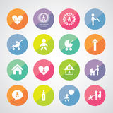 Children action welfare icon Stock Photos