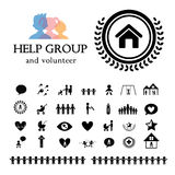 Children action welfare icon Stock Image